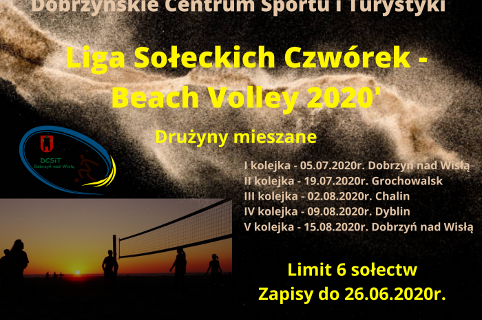 Liga Sołeckich Czwórek – Beach Volley 2020′